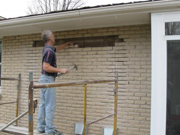 Remove Exterior Brick