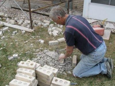 Prepare To Reuse Brick